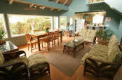 Volcano house rental - The bright and airy great room