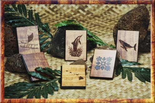 Koa Wood Address Books