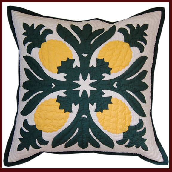 Hawaiian Hand Quilted Pillows made in Volcano Village, Hawaii ... : hawaiian quilt pillows - Adamdwight.com