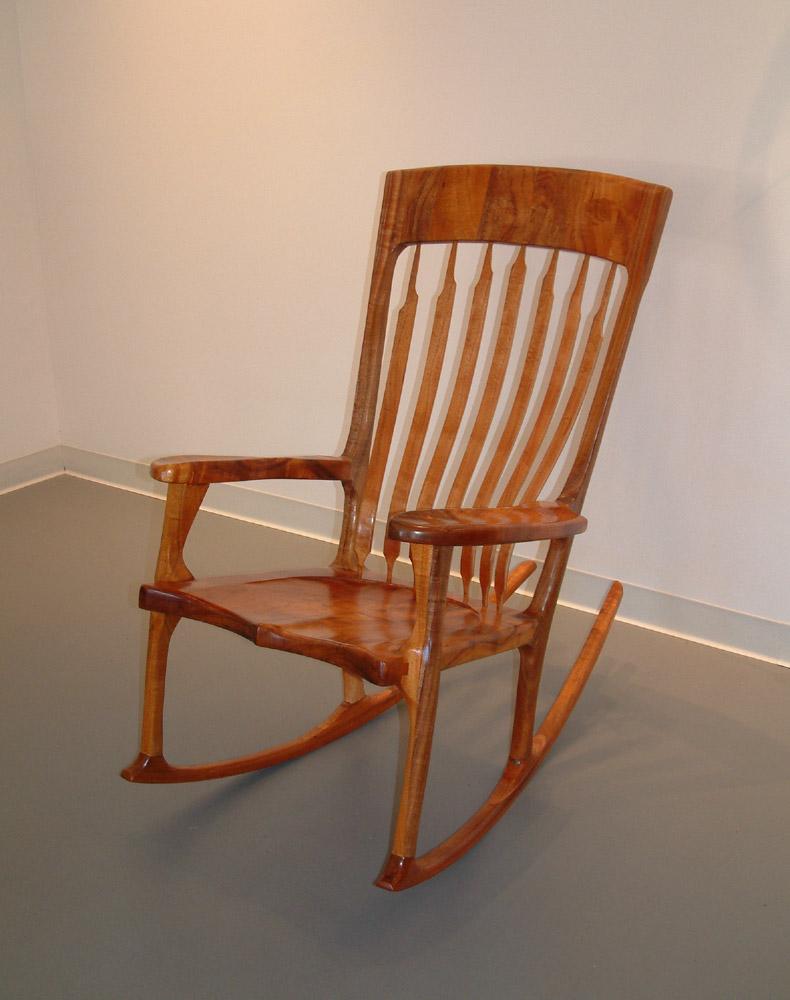 Incredible Koa Wood Rocking Chair Machost Co Dining Chair Design Ideas Machostcouk