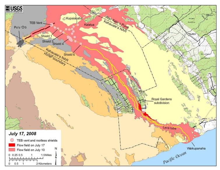 Kilauea Volcano Eruption Information